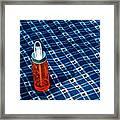 Water Bottle On A Blanket Framed Print