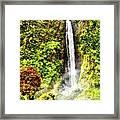 Waterfall Framed Print by Vidka Art