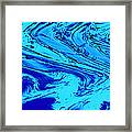 Waves Of Abstraction Framed Print