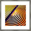 Waves Two Slit 2 Framed Print by Russell Kightley
