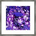 Welcome Flowers In Purple Framed Print