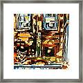 Westmount Porch In Early Autumn Montreal City Scene  Framed Print
