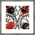 Wine Bottles In Curved Wine Rack Framed Print