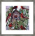 Winter Birdhouse Framed Print