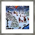 Winter Gathering Framed Print by Adele Moscaritolo