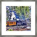 Winter Train Framed Print