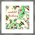 Wonderful Christmas Framed Print