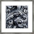 Wood Carving Patterns Framed Print