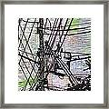 Working On Lines Framed Print by William Cauthern