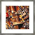 Wrench Tools And Nuts Framed Print