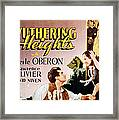 Wuthering Heights, Laurence Olivier Framed Print by Everett