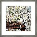 Yard Of The Hippies  Framed Print