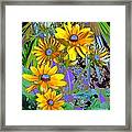 Yellow Daisies Framed Print by Doris Wood