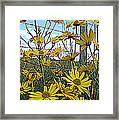 Yellow Flowers By The Roadside Framed Print