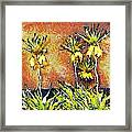 Yellow Flowers Framed Print by Odon Czintos