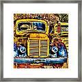 Yellow Trucks Framed Print