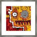 Zeeko - Red And Yellow Framed Print