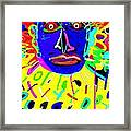 Zulu Yellow- Turquoise Framed Print