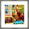 Beautiful Cafe Soleil Framed Print