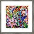 Leah And Flower Of Mandragora Framed Print