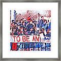 School Children Holding Sign - Olympic Torch Passing Framed Print by Steve Ohlsen