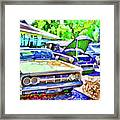 A Line Of Classic Antique Cars 3 Framed Print