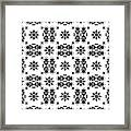 Abstract Ethnic Seamless Floral Pattern Design Framed Print