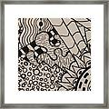 Aceo Zentangle Abstract Design Framed Print