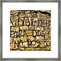 Amor ... Framed Print
