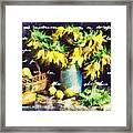 Autumn Sunflowers Framed Print