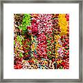 Candy Stand - La Bouqueria - Barcelona Spain Framed Print