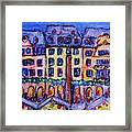 Christmas Market In Mainz Framed Print