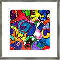 Color Shape Study Framed Print