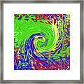 Color Spin Framed Print