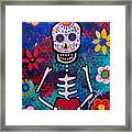 Corazon Day Of The Dead Framed Print