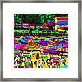 Crowded Beach Framed Print
