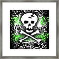 Deathrock Skull Framed Print