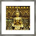 Detail From A Buddhist Temple In Bangkok Thailand Framed Print