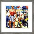 England Weston Super Mare Vintage Travel Poster Framed Print