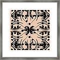 Flora Feline Blush Framed Print
