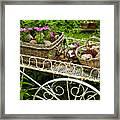 Flower Cart In Garden Framed Print by Elena Elisseeva
