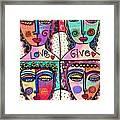 Four Gemstone Angels  Framed Print by Sandra Silberzweig