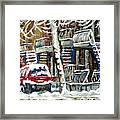 Achetez Les Meilleurs Peintures De Scenes De Montreal En Hiver Winter Scene Paintings Framed Print