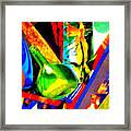 Intersections Abstract Collage Framed Print