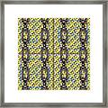 Iron Chains With Glazed Tiles Seamless Texture Framed Print