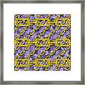 Iron Chains With Mosaic Seamless Texture Framed Print