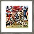 Knights In Tournament Framed Print