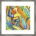 Fairy Leda And The Swan Framed Print
