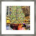 New York City Christmas Tree Framed Print