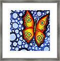 Orange Butterfly Framed Print by Brenda Higginson